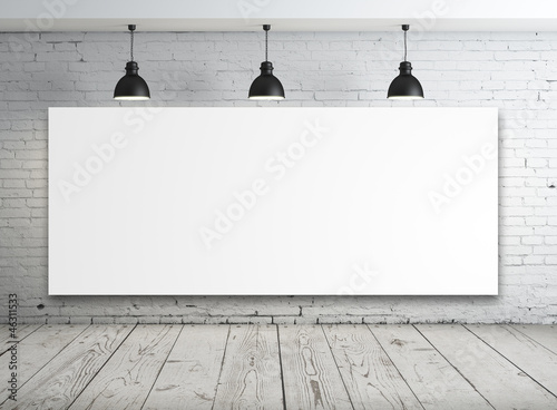 poster in white room