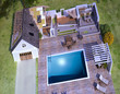 Aerial view of a section luxurious house