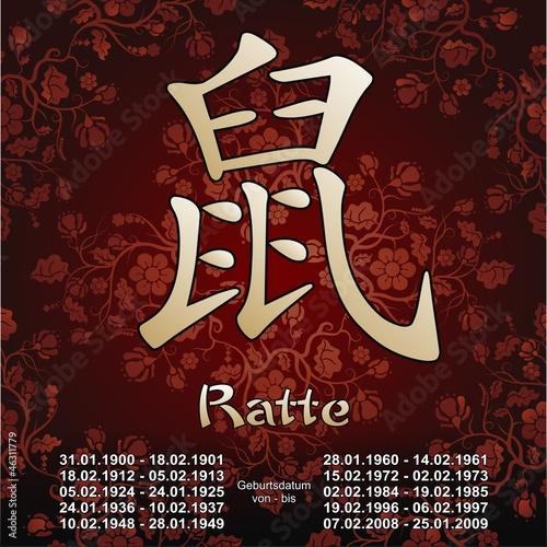 ratte chinesisches sternzeichen tierkreiszeichen horoskop stockfotos und lizenzfreie. Black Bedroom Furniture Sets. Home Design Ideas