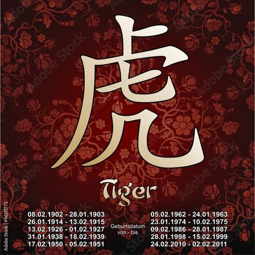 tiger chinesisches sternzeichen tierkreiszeichen horoskop stockfotos und lizenzfreie. Black Bedroom Furniture Sets. Home Design Ideas