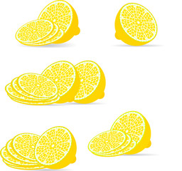 sliced lemon