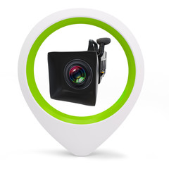 3d round pointer with  video camera