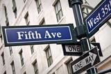 Fototapety Panneau Fifth Avenue - New York USA