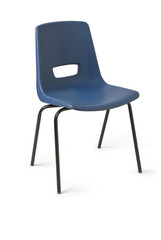 Chair, Blue Plastic