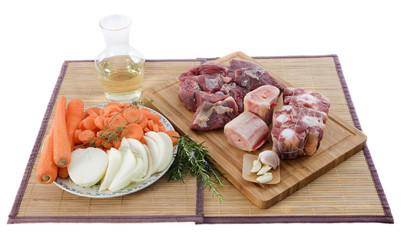 ingredients pour pot-au-feu ou boeuf carotte