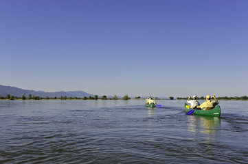 Canoe Trip down the Zambezi River