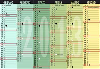 cal 2013 A3,colonne separabili,giorni festivi,lunario