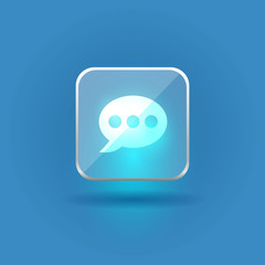Bubble tallk user interface glass icon