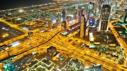 Dubai City from Burj Khalifa Timelapse 4K