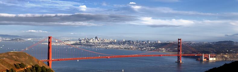 panoramic view of Golden Gate Bridge