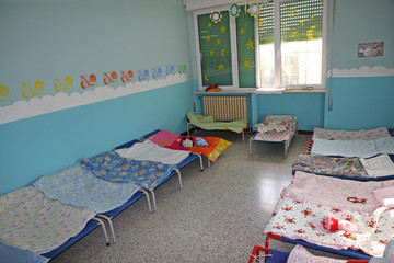 little lounges of a dormitory of a nursery
