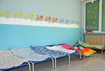 small lounges of a dormitory of a cozy nursery