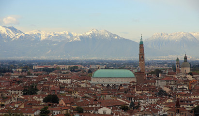 gorgeous view of the city of Vicenza