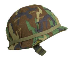 US Woodland Camouflage Helmet