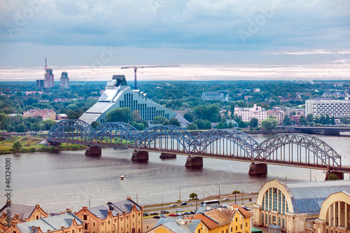 Riga, Latvia, cityscape from Academy of Sciences