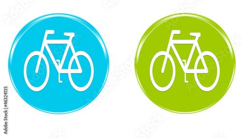 Iconos con el símbolo de una bicicleta en varios colores