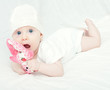 Baby Girl in Knitted Cap