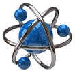 3d illustration of atom isolated on white backgoundq
