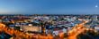 Leinwanddruck Bild - Panorama Hannover zur blauen Stunde