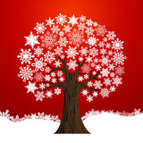 Christmas winter tree background
