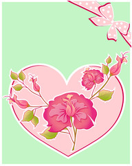 postal card,heart