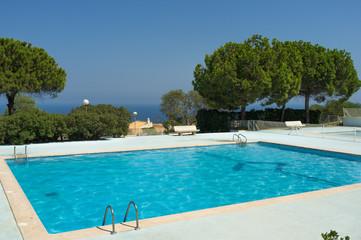 Scenic ocean view pool