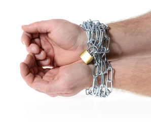 hand in chains