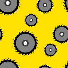 Circular saw blade seamless wallpaper
