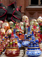 Souvenirs near Red Square in Moscow