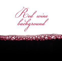 bubbles of young red wine with space for text