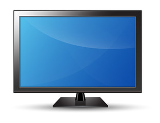 PC Monitor LED LCD TV Vector