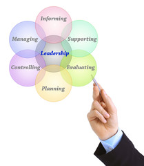 Hand drawing Leadership business diagram management strategy