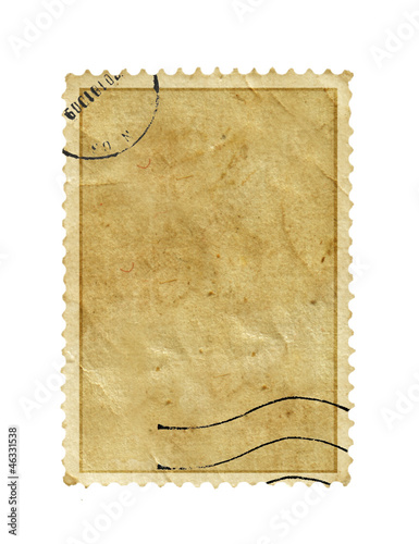 postage stamp with meter stamp