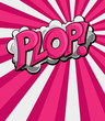Plop - Comic Expression Vector Text