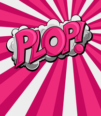 Plop - Comic Expression Vector Text