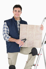 Tiler with materials