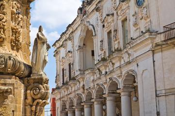 Town hall building. Nardò. Puglia. Italy.