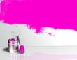Farbroller Klecks Wand Pink 2