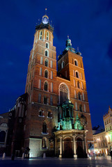 Church of St Mary (Kosciol Mariacki)  in Krakow, Poland