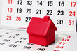 Miniature House on Calendar Pages - 46335392