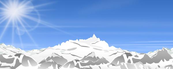 Panorama Berge im Winter