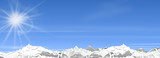 Berge Schnee Winter Skyline Panorama
