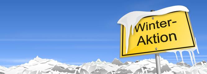 Schild Berge Winteraktion