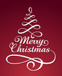 Merry christmas typography