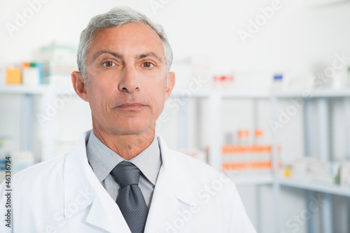 Chemist wearing labcoat