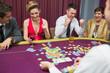 People winning in poker game