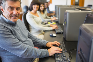 Computer class working happily