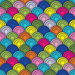 color full vector seamless background with circles