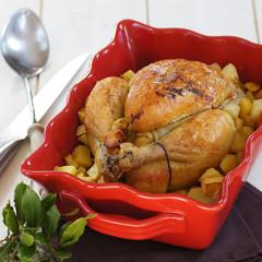 poulet entier aux pommes de terre 5