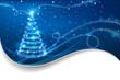The Magic Christmas Tree. Christmas background